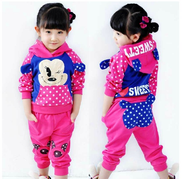 2014 New girls clothing set children sports suits kids outfits baby autumn winter clothes Christmas wear/costumes - Top win Store store