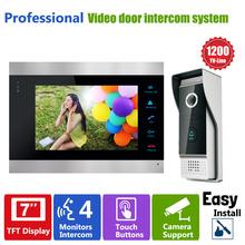 YSECU Door Access Control 7″ LCD Display Video Doorbell Door Phone 1200TVL Security Camera Intercom