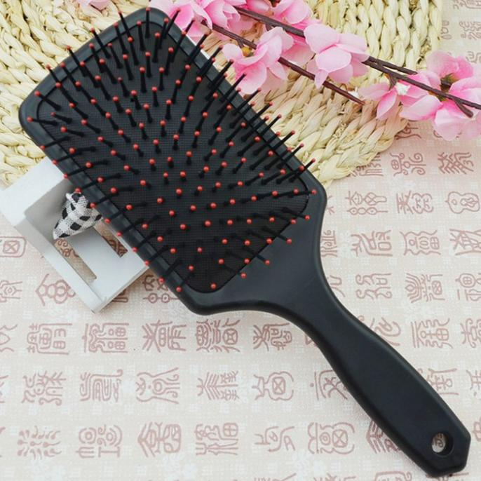 Fashion Couro cabeludo massagem pente New Women Rare Healthy Hairbrush Paddle Cushion Hair Scalp Massage Comb Anne(China (Mainland))