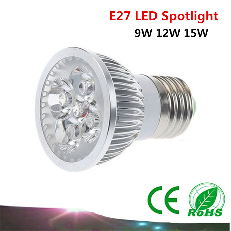 1PCS high power Cree E27 85-265V LED Spot Light 9W 12W 15W LED Light warm white / white / cool white LED lighting(China (Mainland))