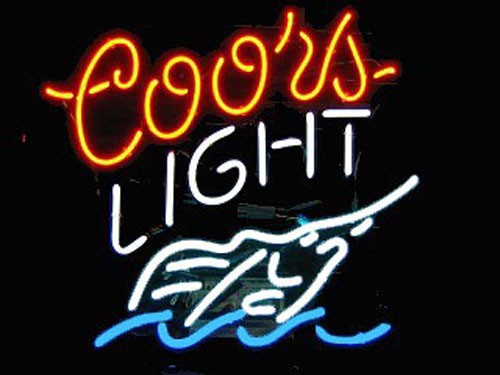 Super Bright!!FS Neon Sign Coors Light Swordfish Handcrafted Neon Light Sign Beerbar Sign Neon Beer Sign 24x20.Free Shipping!(China (Mainland))