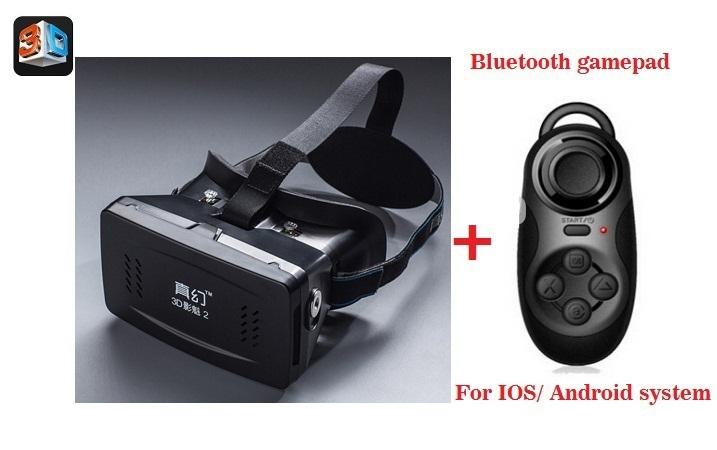RITECH II Head Mount Plastic Version VR Virtual Reality Glasses Magnet Google Cardboard 3.5-6 inch + Bluetooth controller