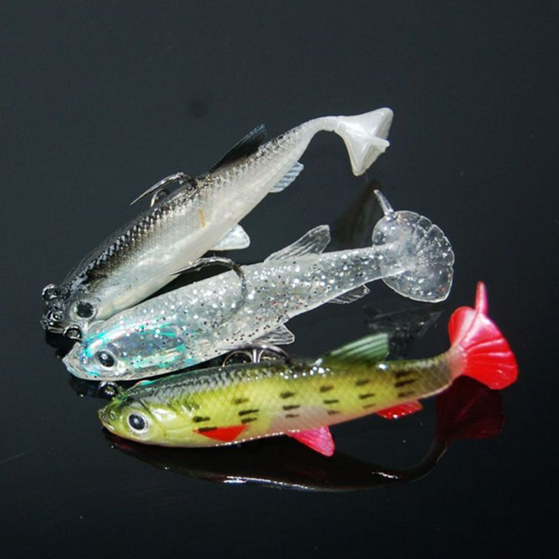 3pcs Soft Fishing Lures Sea Fishing Tackle Soft Bait Lead Fishing 8cm/14g Artificial Bait Jig Wobblers Rubber Silicon Lure(China (Mainland))