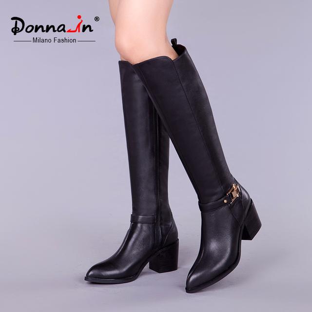 Донна в 2016 новый стиль над коленом высокие сапоги, босоножки, кожаные ботинки женщин высокой пятки дамы сапоги