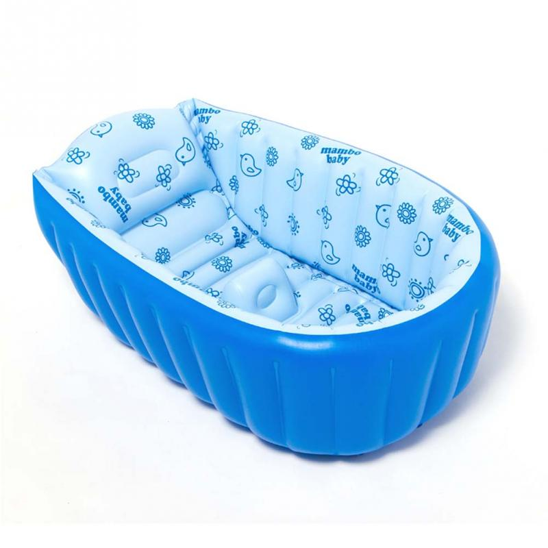Free Shipping Summer Mambobaby Creative Fresh Baby Inflatable Tub Portable Thick Baby Toddler Bathtub(China (Mainland))