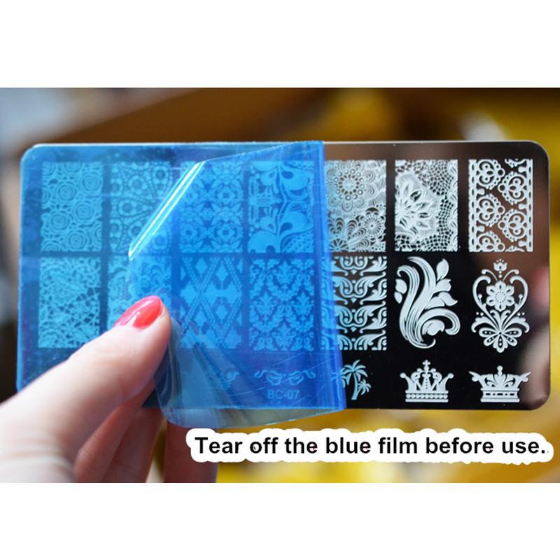 3PCS/Lot New Lace Nail Art Stamping Plates Carimbo De Unha Nail Stamper Plaque Stamping Pour Ongle Nail Art Tools Placas Konad(China (Mainland))