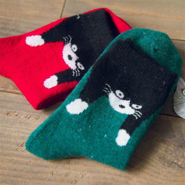 Caramella каваи животных мультфильм трубка носки корейских женщин милые лиса кошка пингвин белый медведь рисунком носок забавный тепловые шерстяные носки