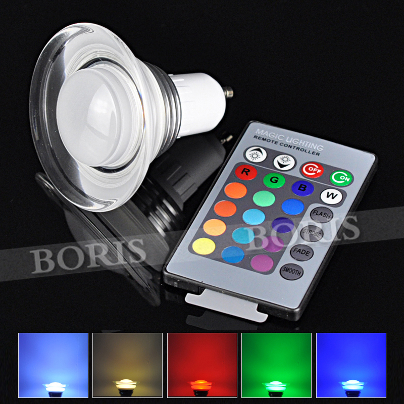 16 Kind Colors Party Lights + 24 Remote Controller LED Spot Lamp RGB LED Bulb 3W GU10 Spot light AC85-265V for Decorative Home(China (Mainland))