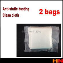 2 bags Mobile phone LCD LED Repair clean cloth separating machine vacuum packing anti-static microfiber dusting(China (Mainland))