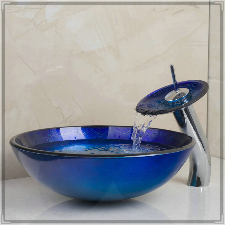 Bathroom Colorful Bowl Round Bath Basin &amp; Bath Fixtures Tempered Glass Vessel Sink Bathroom Sinks JMS652 bathroom faucets price<br><br>Aliexpress