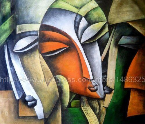 Modern Indian Oil On Canvas Painting Abstract And Colourful Wall Decor Art Deco Living Room Wall Pictures Cafe Art Panel Art(China (Mainland))
