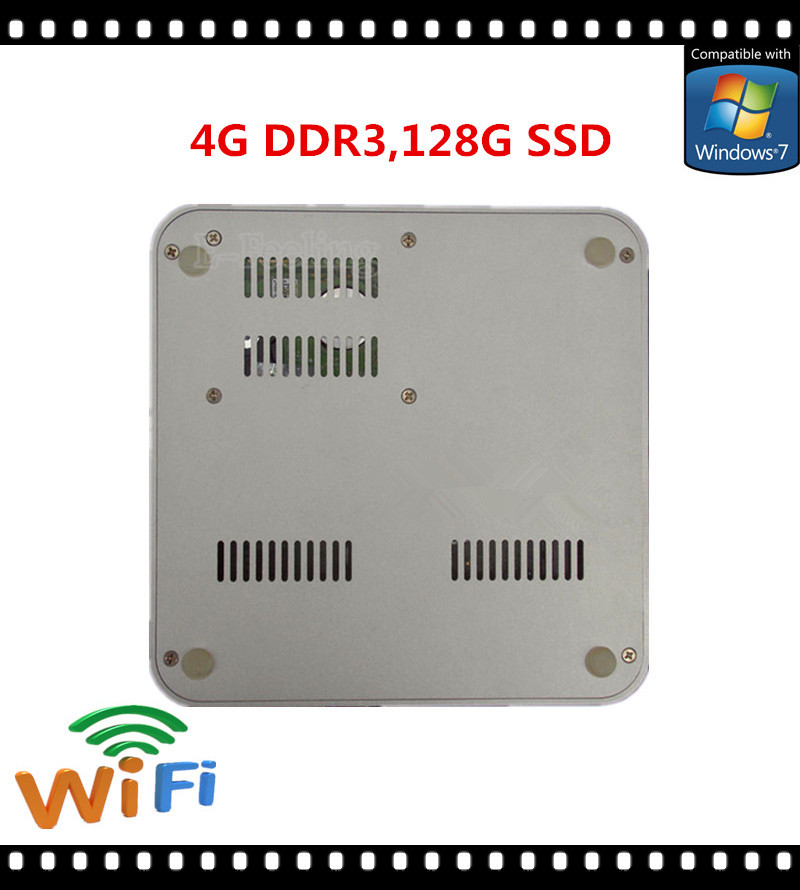 Windows Thin PC Slim Computer Supporting PXE With 4G DDR3 128G SSD Fast Speed than i5 Intel Mini PC HDMI port, 4 USB(China (Mainland))