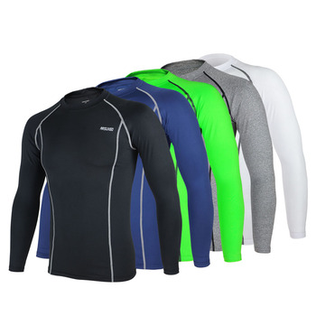 ARSUXEO Cycling Long Sleeve Shirt Sports Running Bicycle Baselayer Underwear Long Sleeve Jersey Quick Dry Shirt for Men 5 Colors