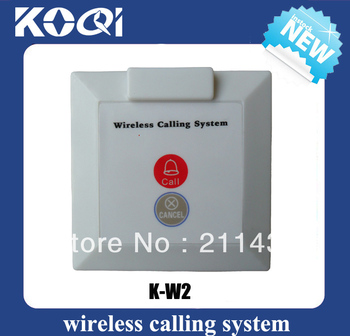 Finger button K-W2 CALL CANCEL for wireless calling system buzzer install on the wall-mounted