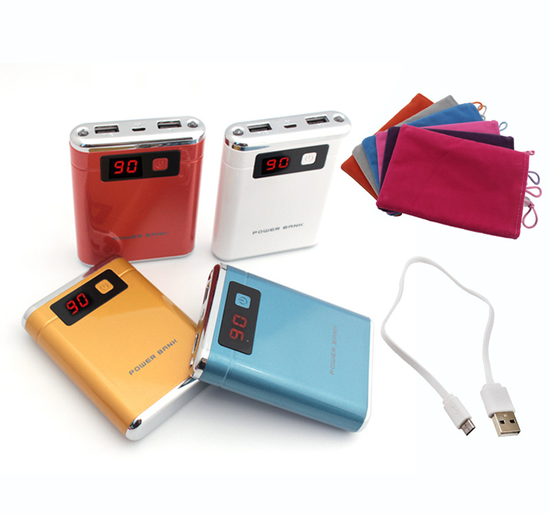 Portable 12000mAh Dual USB Power Bank LCD 2 LED Battery Charger For xiaomi iphone 6 5s LG SAMSUNG(China (Mainland))