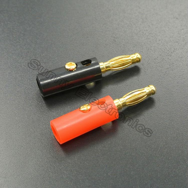 Гаджет  10 X 4mm Audio Speaker Screw Banana Gold Plate Plugs Connectors None Электротехническое оборудование и материалы