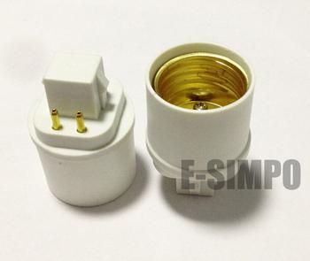 6 pieces/lot,G24q to E26/E27, GX24q-3 to E26/E27,4PIN,Lamp base converter, E26/E27 Lamp Holder to G24Q/GX24q-3 Lamp Base