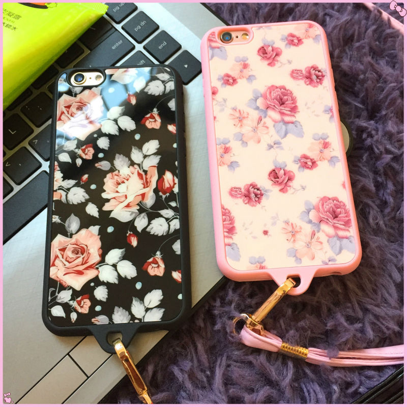 New Acrylic Surface Spring Blooming Painting Back Cover Skin Case For iphone6s/6plus Cellphone Body Protecter(China (Mainland))