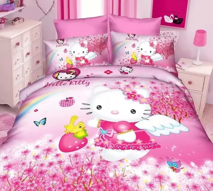 hello kitty bedding sets children 39 s girls bedroom decor single twin