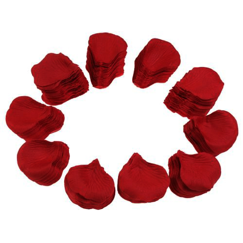 IMC Hot 1000 Pcs Heart Shaped Red Rose Petals,Wine red(China (Mainland))