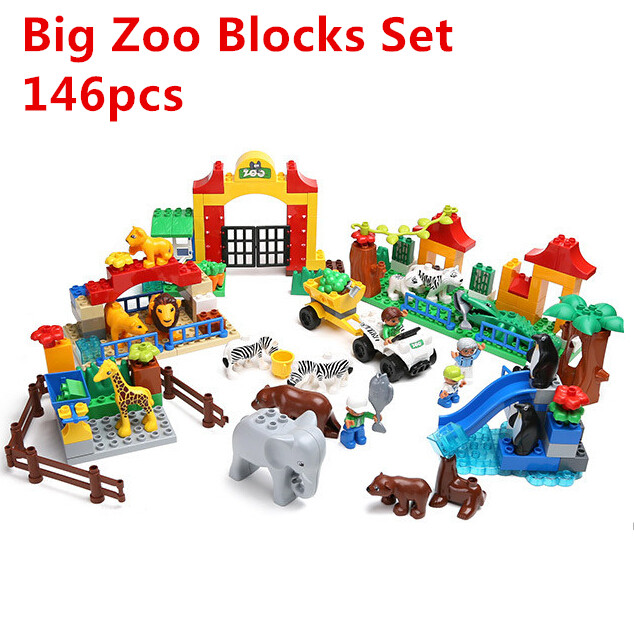 2015 NEW Quality ABS Big Building Blocks Big Animal Zoo Set Funny Children Kids Baby Toys Gifts<br><br>Aliexpress