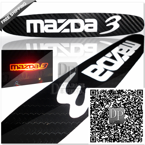 DP_Free Shipping 3D Carbon Fiber Brake Sticker for Mazda 3 Classic Horse3 M3 High Positioned Rear Brake Light Sticker 3 Choices.(China (Mainland))