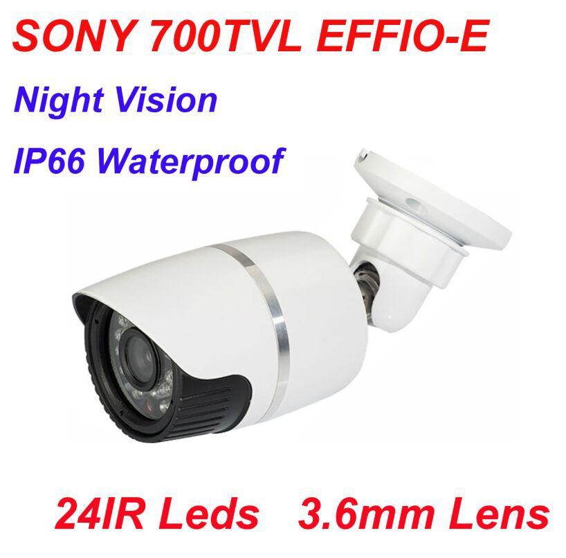 "Free Shipping Wholesale HD 1/3"" 700TVL SONY CCD Bullet Surveillance CCTV Security Camera 24IR Night vision(China (Mainland))"