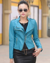 Free shipping women leather jacket 2016 Autumn PU motorcycle jacket women's leather coat women leather jacket plus size 4XL(China (Mainland))