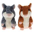 Talking Hamster Plush Toy Hot Cute Speak Talking Sound Record Hamster Talking Toys for Children Kids
