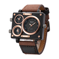 Oulm Fabric Strap Male Square Watch Mens Watches Top Brand Luxury Watches Famous Brands Designer Clock