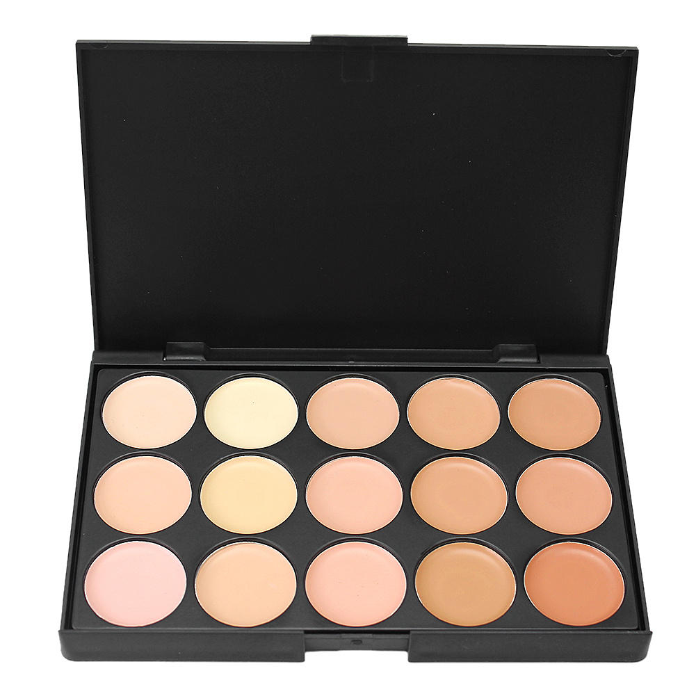 15 Colors Professional Natural Face Facial Cream Camouflage Cosmetic Make Up Concealer Contour Palette Foundation Makeup Kits(China (Mainland))