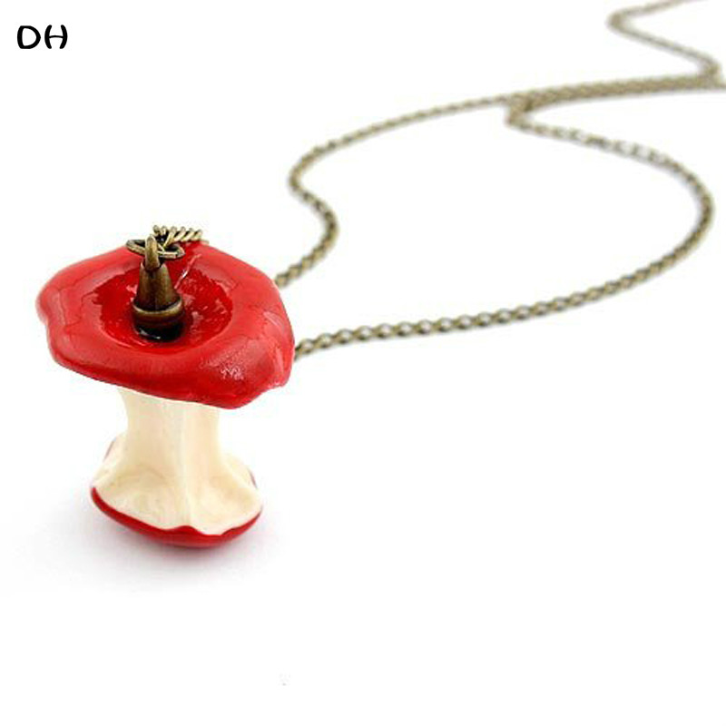 2015 New Fashion Hot-Selling Wholesale Fashion Jewelry Apple Retro Long Sweater Chain Necklace For Woman 66N176(China (Mainland))
