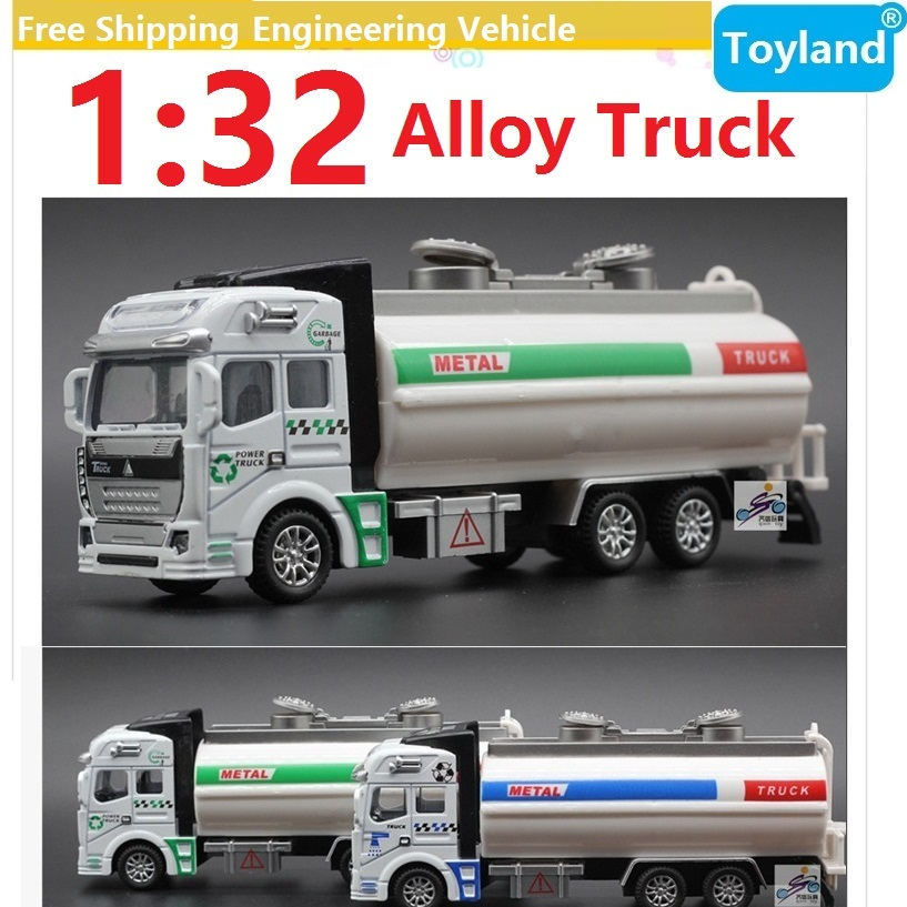 1:32 Alloy Pull Back Engineering vehicle sprinkler Truck/Fuel tank car model simulation model Hot Educational toy Free Shipping(China (Mainland))