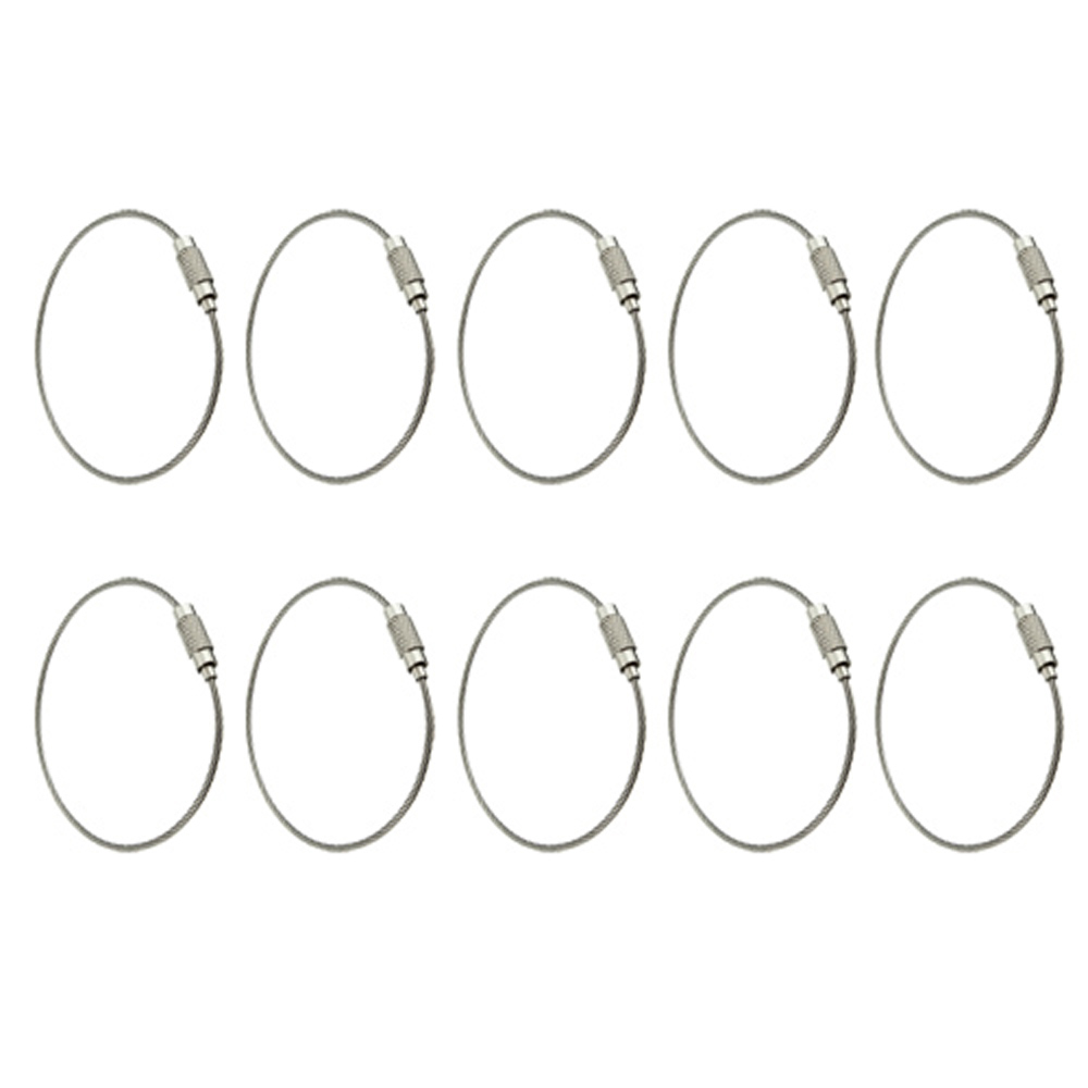 Гаджет  GSFY! 10pcs Stainless Steel Screw Locking Wire Keychain Cable None Изготовление под заказ