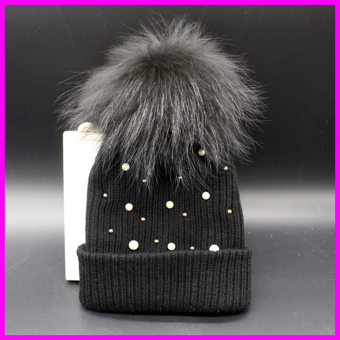 Women Winter Hats Crochet Beanie Knitted Caps For Women Brand Designer Fur Pom pom Hat(China (Mainland))