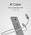 WSKEN Type C 2 0 USB Fast Charger Type C Micro USB wires Metal Data Cable