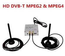Car Digital TV Receiver Box HD DVB-T MPEG4&MPEG2+Dual Antenna For My store Android OS Car DVD Player Radio Stereo GPS Navigation
