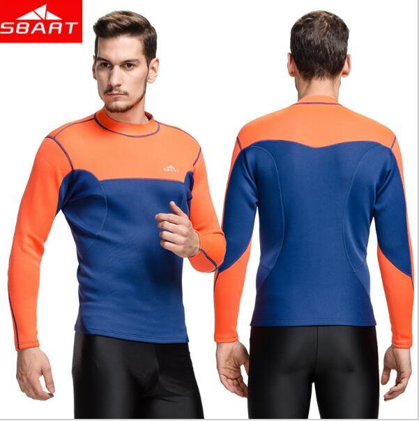 New Arrival 2mm Neoprene Wetsuit Tops Mens Swimming Shirt