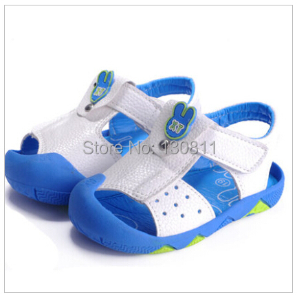 Hot!2015 summer baby sandals private toddler soft bottom shoes Velcro beach Boys girls - Good quality clothing store