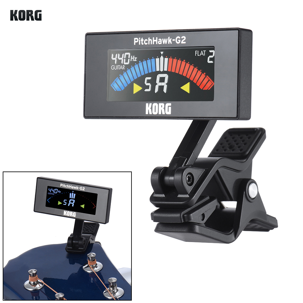 KORG AW-3G2-BK PitchHawk-G2 Rotatable Digital Electronic Clip-On Tuner Color LCD Display for Guitar Bass Chromatic(China (Mainland))