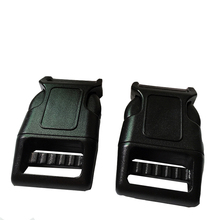25mm curved plastic side release buckles for dog collar accessories bags high quality pet collar accessories(China (Mainland))