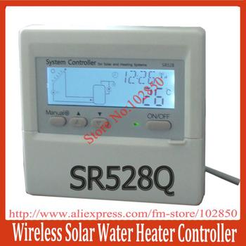 2013 New Arrival !Solar Water Heater Controller SR528Q,600m communication distance Free ISM,max 8 wireless display meters
