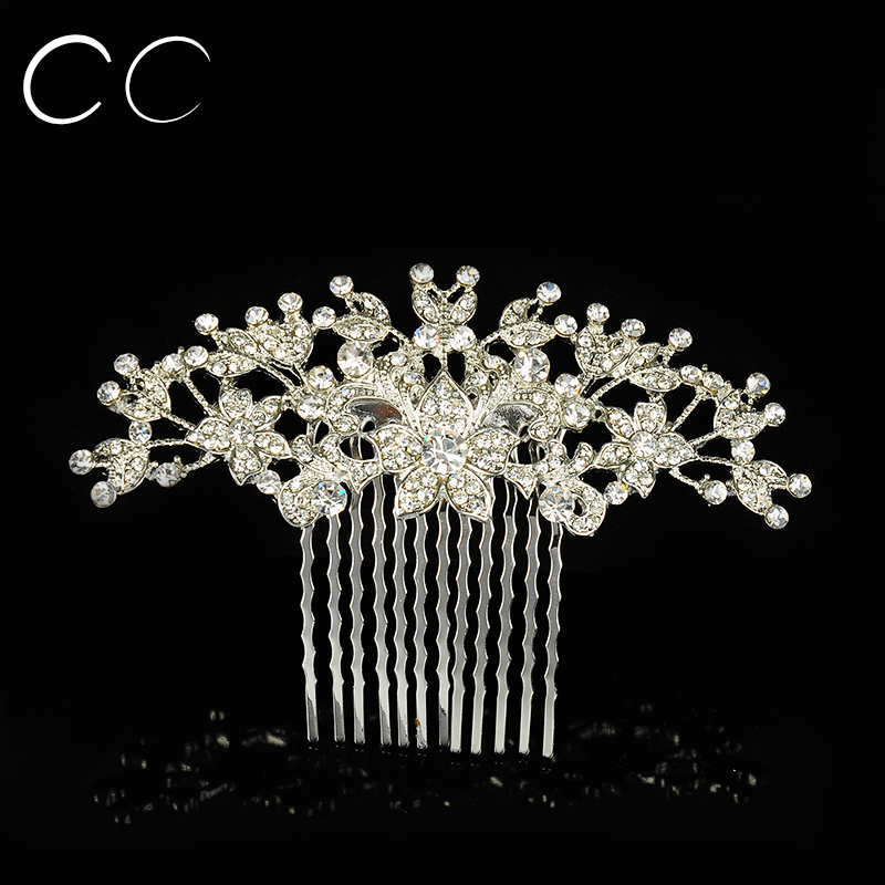 Luxurious Hot Design Fashion Hairwear Accessories Austrian Crystal Beautiful Flower Hair Combs for Women Wedding Bijoux A026(China (Mainland))