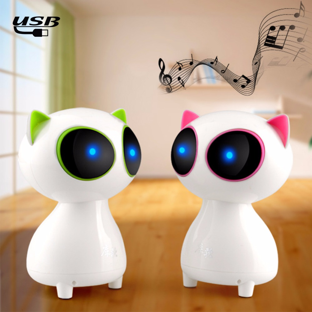 1pcs Mini Speaker Cute cat Multimedia notebook desktop computer speakers small stereo subwoofer USB speakers For iPhone Samsung(China (Mainland))