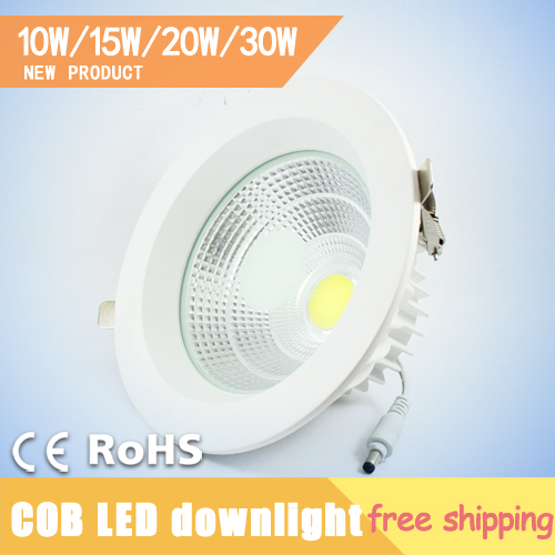 10W 15W 20W 30W COB Lamp Recessed Led Ceiling Lights Cabinet Down Light Luminaria Teto Embutir Lamparas de Techo Free Shipping(China (Mainland))