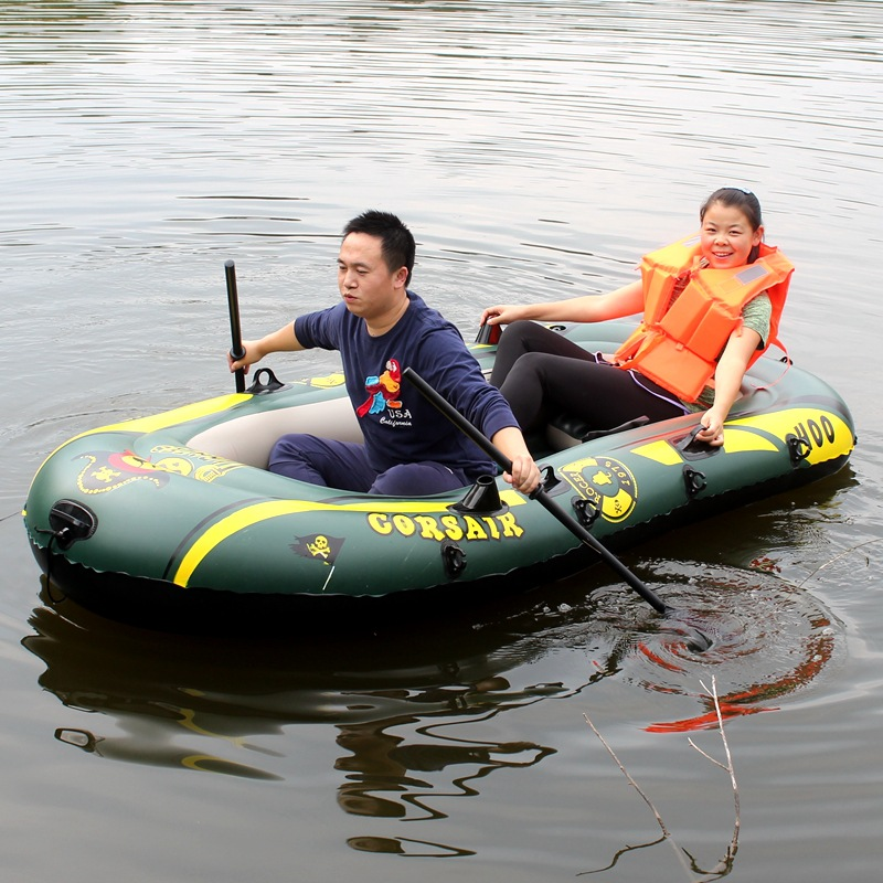 200kg 2 Two Person Kayak Special Thick Rubber Inflatable Boat Fishing Boat With Air Cushion(China (Mainland))