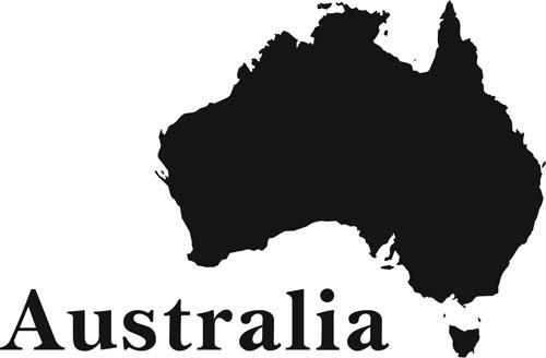 Free shipping unique design australia map home decor wall stickers wall decals75 x Home decor wall decor australia