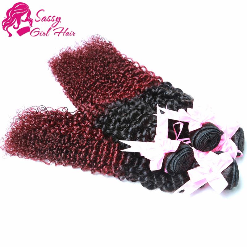 7a grade virgin Peruvian Curly Hair 4bundles Weave Cheap Curly Virgin Hair Bundle Deals Ombre Afro Curly Weave Human Hair Red <br><br>Aliexpress