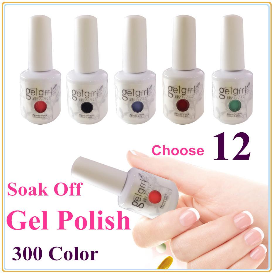 UV Nail Gel Polish UV&LED Shining Colorful 180 Colors 15ml Long lasting soak off Varnish cheap Manicure