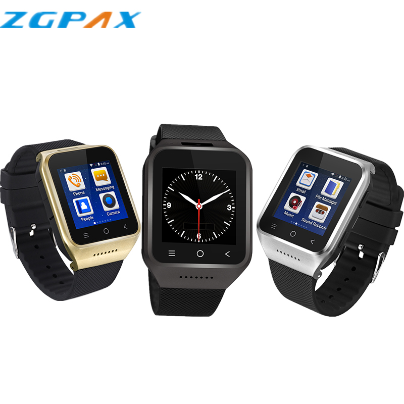 Runtastic smartwatch ZGPAX S8 smart watch android 4.4 support sim card wearable devices gps wifi sport 3g bluetooth gsm camera(China (Mainland))